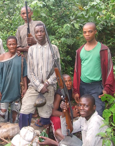 Okonde in a hunting party