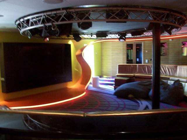 Huge TV at Vibe Aboard a Disney Dream Cruise by WorryFreeDisney