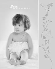 (Sara Abdulaziz ~) Tags: flowers white bird love girl face look kids canon hair studio photography eyes long child hand sweet toto