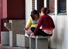 Crack (wouldpkr) Tags: street girls ass bench il crack sidewalk dekalb