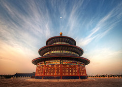 The Temple of Heaven (Stuck in Customs) Tags: china city travel sky moon history architecture clouds digital religious temple photography design blog compound high worship asia heaven republic dynamic stuck religion beijing september east altar photoblog software processing historical metropolis imaging  prc spiritual templeofheaven altarofheaven northern tao range complex hdr taoist tutorial trey tiantan peking travelblog taoism customs 2010  municipality bijng ratcliff  tintn northernchina hdrtutorial stuckincustoms treyratcliff abkaimukdehun photographyblog peoplesrepublicofchina stuckincustomscom nikond3x