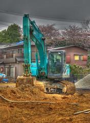 Shovel-2 (Matthias Harbers) Tags: japan canon construction machine powershot chiba dxo hdr excavator g11 kashiwa bagger 3xp kobelco photomatix worldmachines