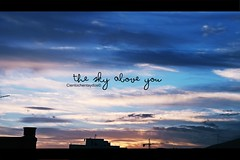 I love the sky *_*! (escuchoelecodetuvoz ~) Tags: blue sky green eye love nature canon photo reflex nikon flickr colours olympus explore hate