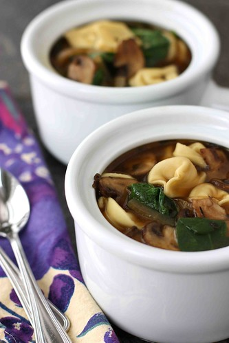 Tortellini-Soup-with-Balsamic-Caramelized-Onions-Mushrooms-&-Spinach-Recipe-Cookin-Canuck