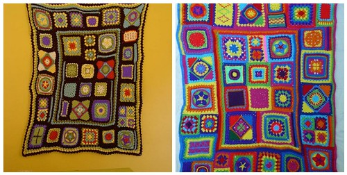 granny square sampler afghans made by others!