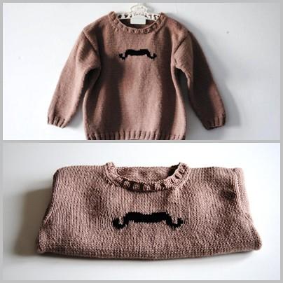 Le pull moustache