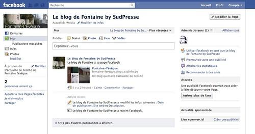 le Blog est sur Facebook