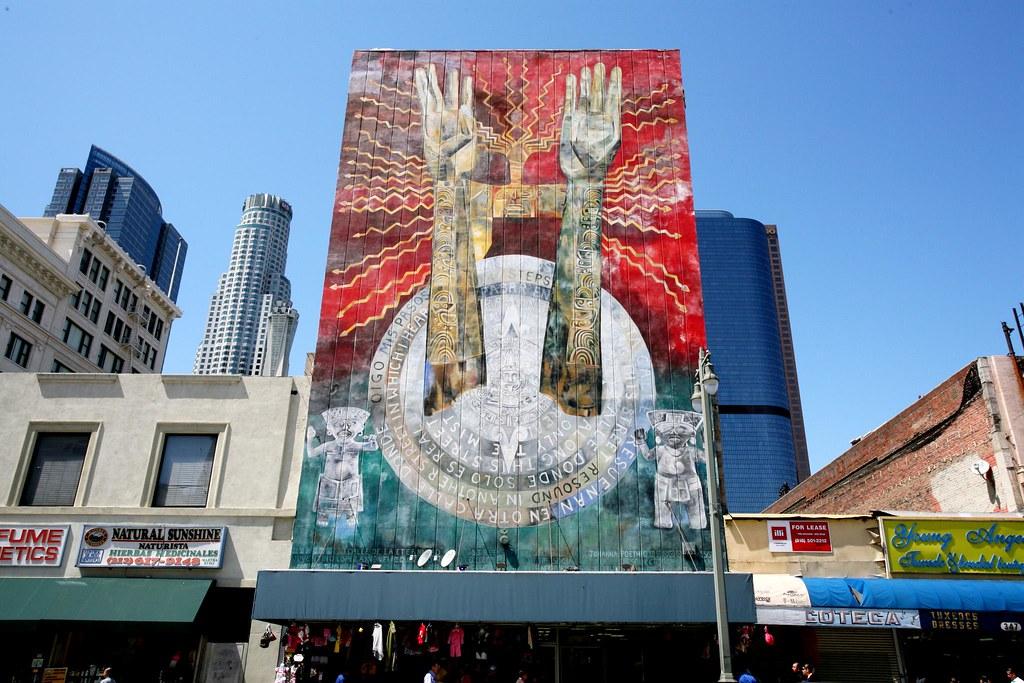 mural, downtown LA