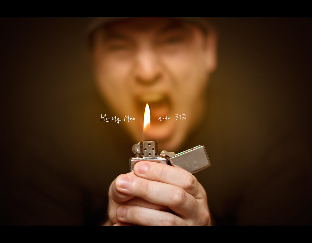 Project 365, Day 251, 251/365, Bokeh, Self Portrait, Strobist, zippo, lighter, flame, technologie, odc, ourdailychallenge, mighty man, fire, Sigma 50mm F1.4 EX DG HSM, 50mm, 50 mm