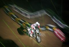 intro ride (davedehetre) Tags: show light stlouis spotlight dome motorcycle motocross supercross 2011 edwardjones dwcfflightpaint