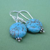 Turquoise Coin Earring  **FFS Drawing**