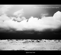 When opens the door of Heaven (Tzsde Pocak) Tags: sky abstract turkey landscape blackwhite heaven olympus could olympose410