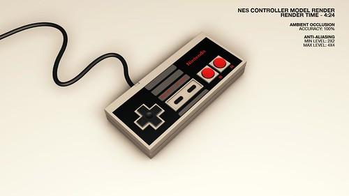 NES Controller Render 01