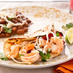Shrimp Tomatillo Fajitas