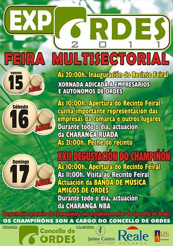 Ordes 2011 - Feira multisectorial - cartel