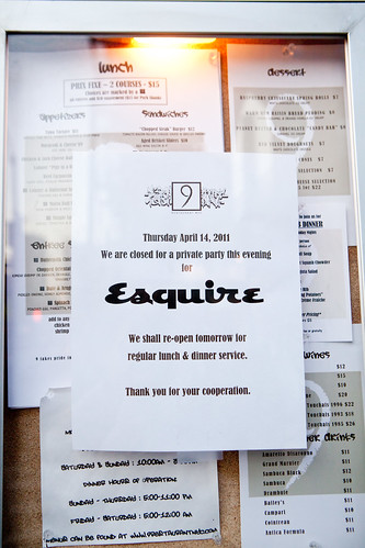 Esquire event flyer