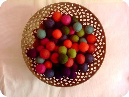 Felt Balls - Yummy!!!