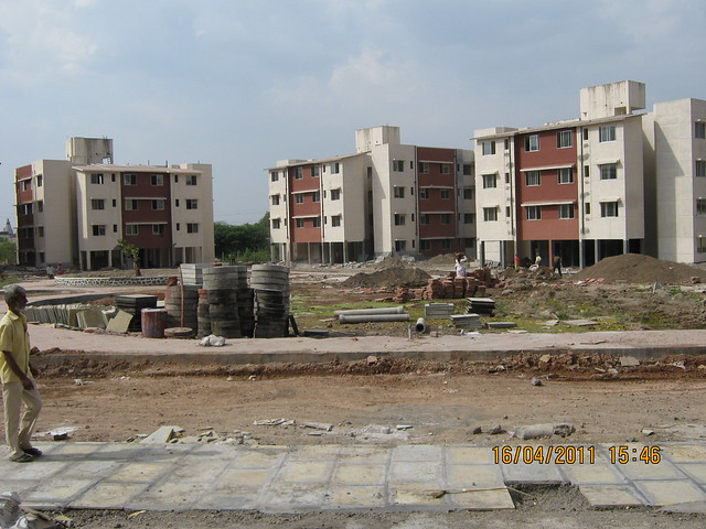 Almost Ready for Possession Anandgram Yavat - The CRISIL 5 Star Rated 10 Acre Township of 1 Room Kitchen - 1 BHK - 2 BHK Flats in the Property Price Range of Rs. 4 to 8 Lakhs -  on Solapur Road - Pune