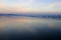 a quiet moment (<jan>) Tags: pink blue sunset reflection beach water clouds sand wetsand sandypoint