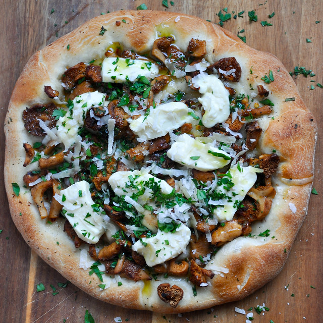 Wild Mushroom and Crescenza Pizza recipe