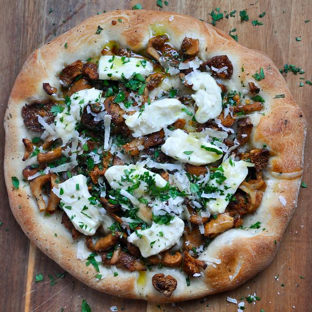 Wild Mushroom And Crescenza Pizza: Do A Little Dance