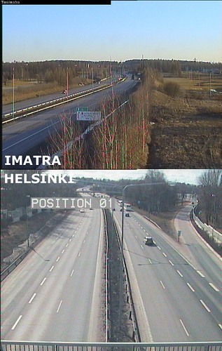 18th April 2011 road cam views to Imatra and Helsinki (Finland)