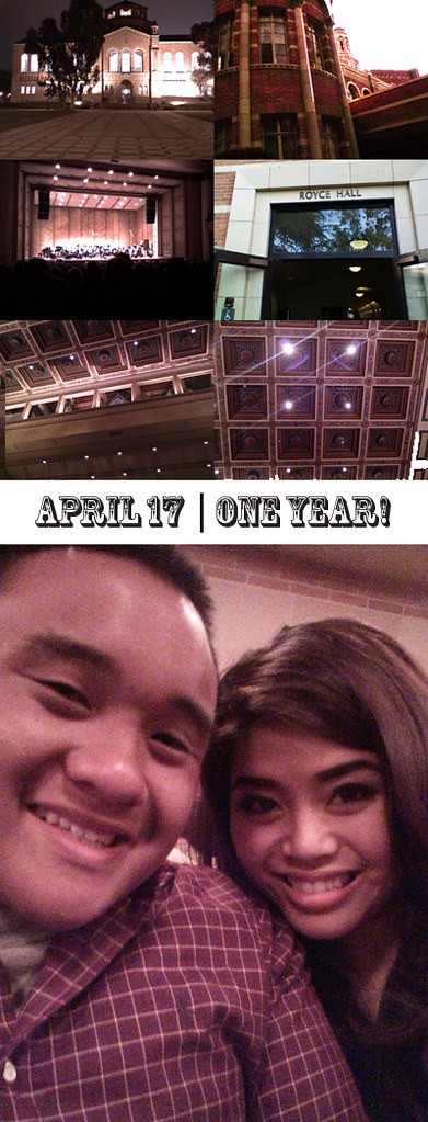april 17, 2011 : Our One Year Anniversary <3