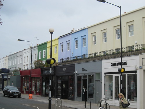 Pastel Buildings in Notting Hill