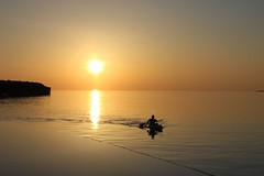 Kayak Sunset (Simone Lovati) Tags: sunset sea pool kayak maldives