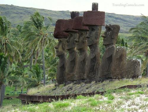 Easter Island Maoi Statues at Arekena Beach