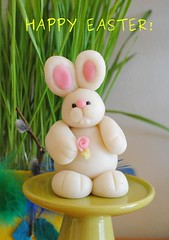 My marzipan bunny  wishes you all a Happy Easter! (Zara Miravent) Tags: bunny espoo finland easter handmade marzipan