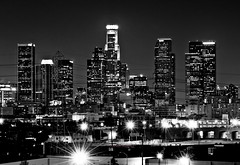 DTLA in B&W (Jester Jungco) Tags: california city white black skyline angel landscape star los nikon long exposure downtown jester angeles angels scape d90 jungco