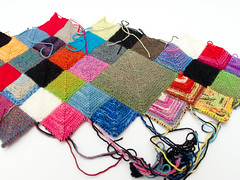 Blankie: 26 April 2011 (Lady Selena) Tags: color knitting squares workinprogress wip yarn blankie breien garen kleur faved mitered vierkantjes dekentje breiwerk lapjes