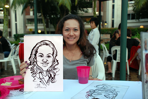 caricature live sketching for birthday party 16042011 - 9