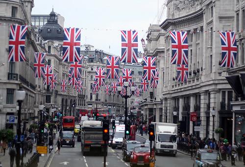 Regent Street - Union Jacks