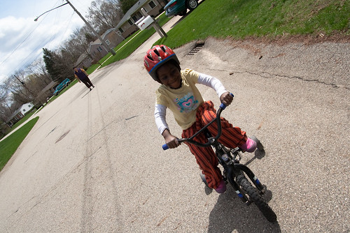 Lourdie Riding a Bike April 24, 201123
