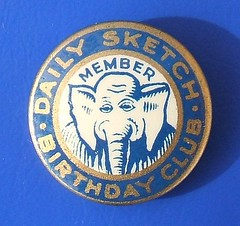 Daily Sketch Birthday Club - membership badge (1920's?) (RETRO STU) Tags: buttonbadge children'sclubs thomasmaybank dailysketchnewspaper tinbuttonbadge dailysketchbirthdayclub oojahtheelephant hmtalintyre flolancaster jackandjillcomic