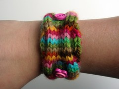 "Discobaby Knits ""Jungle Chic"" Mama Cuff ***100% goes to Autism Speaks***"