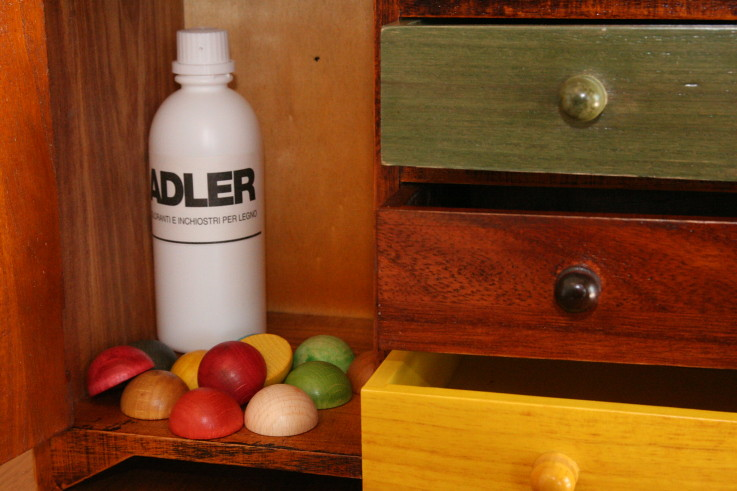 Water-based stains for wood coloring - Adler
