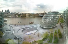 What a view! (Joe Hesketh) Tags: autostitch panorama thames towerbridge office view cityhall riverthames 30stmaryaxe toweroflondon tower42 thegherkin cityoflondon morelondon thescoop iphone herontower
