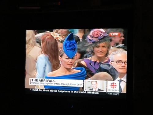 Royal Wedding weird head gear.