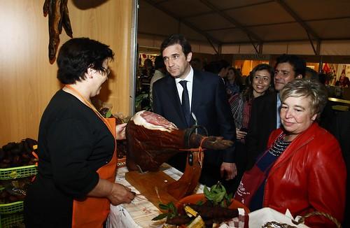 Pedro Passos Coelho visita  a Feira do Vinho Alvarinho e do Fumeiro de Melgaço