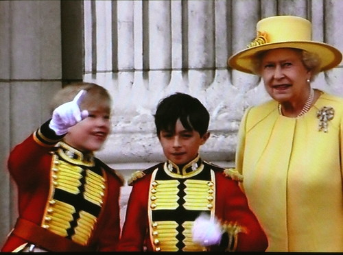 HRH the Queen and pageboys