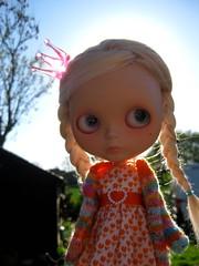 Princess Mist (fashionmimi *MSc*) Tags: pink mist alpaca doll dress frankie crown blythe hop custom darling sai cardigan picnik reroot megipupu petiteprincesseplacard