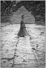 Fairy of Maowa (Ehtesham Khaled [www.ehteshamkhaled.com]) Tags: camera bw cloud sun white black art girl river lens nikon media ray walk horizon fair bamboo fairy step pip jar dhaka khaled ehtesham bangladesh bangla advertise bangali banga megh kolosh maowa sham619 mawoa talelittle gettyimagesbangladeshq3
