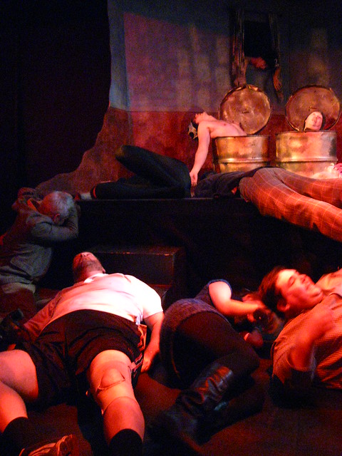 The entire cast of tonight's show dies of a poison gas attack.  What WAS that... ?