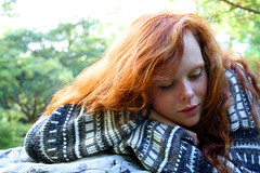 forest session (mylittlealbum) Tags: light tree forest canon photography photoshoot jersey knitted redhair
