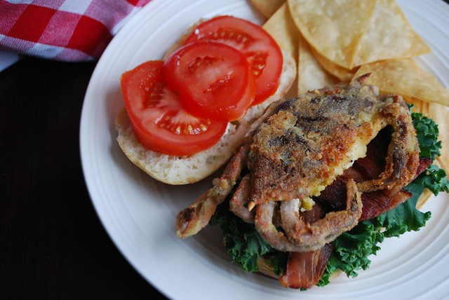 soft-shell crab sandwich