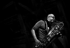Petter Frost Fadnes (The Thin Red Line) Tags: norway jazz thethinredline paulhession ruspearson petterfrostfadnes