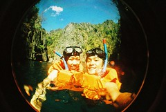 a vacation with loved one (darkcanopy) Tags: vacation orange lake green film analog ian xpro lomography crossprocessed crossprocess philippines wide lofi wideangle slide christian fisheye analogue fe agfa coron agfaprecisa sheila lomograph underwatercamera islandhopping palawan lowfi compactcamera lsi fe2 precisa fisheye2 xprod agfactprecisa 120degrees lomographyfisheye agfactprecisa200 120 agfaphoto submersiblecamera darkcanopy lsifisheye